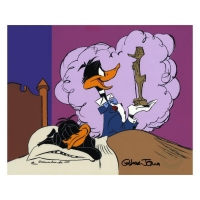 "Chuck Jones Signed ""Daffy Ducks Impossible Dream"" Hand-painted Limited Edition 10x12 Sericel"