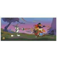 "Chuck Jones Signed ""Foiled Again"" Hand-painted Limited Edition 10x25 Sericel"