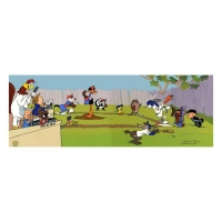 "Chuck Jones Signed ""Sandlot"" Hand-painted Limited Edition 13x33 Sericel"