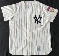"Mickey Mantle Signed LE Yankees 1951 Rookie Year Mitchell & Ness Throwback Jersey Inscribed ""No. 7"" With Upper Deck Box (UDA COA)"