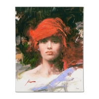 "Pino Signed ""Red Turban"" Artist Embellished Limited Edition 16x20 Giclee on Canvas at PristineAuction.com"