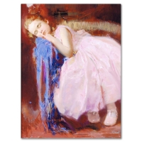 """Pino Signed """"Party Dreams"""" Artist Embellished Limited Edition 18x24 Giclee on Canvas"""
