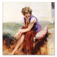 "Pino Signed ""Francesca"" Artist Embellished Limited Edition 20x20 Giclee on Canvas at PristineAuction.com"