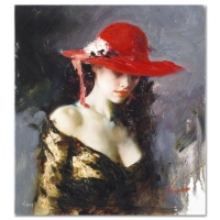 "Pino Signed ""Evening Out"" Artist Embellished Limited Edition 18x20 Giclee on Canvas at PristineAuction.com"