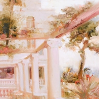 """Pino Signed """"Villa Sorrento"""" Artist Embellished Limited Edition 18x26 Giclee on Canvas at PristineAuction.com"""