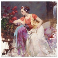 "Pino Signed ""Serendipity"" Artist Embellished Limited Edition 32x32 Giclee on Canvas at PristineAuction.com"