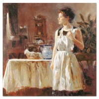 "Pino Signed ""Sunday Chores"" Artist Embellished Limited Edition 30x30 Giclee on Canvas at PristineAuction.com"