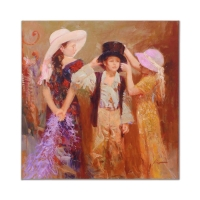 "Pino Signed ""Dress Up"" Artist Embellished Limited Edition 30x30 Giclee on Canvas at PristineAuction.com"