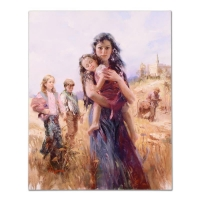 """Pino Signed """"Nauvoo Legacy"""" Limited Edition 24x30 Artist Embellished Giclee on Canvas"""