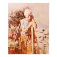"Pino Signed ""A Day in the Field"" Limited Edition 24x30 Artist Embellished Giclee on Canvas at PristineAuction.com"