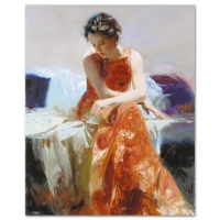 "Pino Signed ""Solace"" Limited Edition 24x30 Artist Embellished Giclee on Canvas at PristineAuction.com"