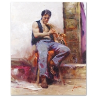 "Pino Signed ""Music Lover"" Limited Edition 24x30 Artist Embellished Giclee on Canvas at PristineAuction.com"