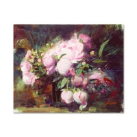 "Pino Signed ""Peonies"" Limited Edition 30x24 Artist Embellished Giclee on Canvas at PristineAuction.com"