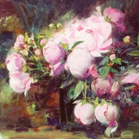 """Pino Signed """"Peonies"""" Limited Edition 30x24 Artist Embellished Giclee on Canvas at PristineAuction.com"""