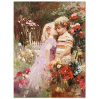 "Pino Signed ""The Kiss Revisited"" Limited Edition 24x32 Artist Embellished Giclee on Canvas"