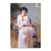 "Pino Signed ""Sublime Beauty"" Artist Embellished Limited Edition 22x32 Giclee on Canvas"