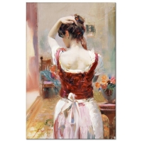 """Pino Signed """"Isabella"""" Artist Embellished Limited Edition 18x28 Giclee on Canvas at PristineAuction.com"""