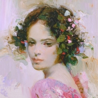 """Pino Signed """"Lily"""" Artist Embellished Limited Edition 20x26 Giclee on Canvas at PristineAuction.com"""