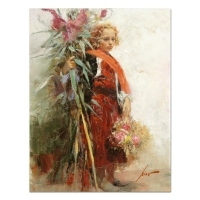 "Pino Signed ""Flower Child"" Artist Embellished Limited Edition 20x26 Giclee on Canvas at PristineAuction.com"