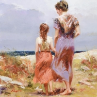 """Pino Signed """"Summer Afternoon"""" Artist Embellished Limited Edition 22x26 on Canvas at PristineAuction.com"""