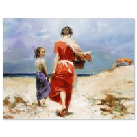 "Pino Signed ""Summer Retreat"" Artist Embellished Limited Edition 26x20 Giclee on Canvas at PristineAuction.com"