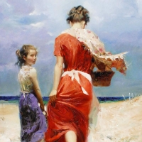 """Pino Signed """"Summer Retreat"""" Artist Embellished Limited Edition 26x20 Giclee on Canvas at PristineAuction.com"""