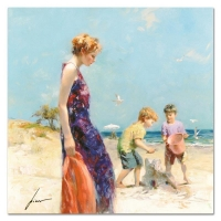 "Pino Signed ""Good Ole Days"" Artist Embellished Limited Edition 32x32 Giclee on Canvas at PristineAuction.com"