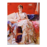 "Pino Signed ""After Dinner"" Artist Embellished Limited Edition 28x36 Giclee on Canvas at PristineAuction.com"
