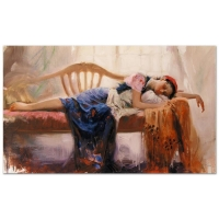 """Pino Signed """"At Rest"""" Artist Embellished Limited Edition 40x24 Giclee on Canvas"""