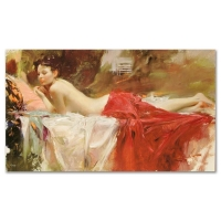 """Pino Signed """"Love Notes"""" Artist Embellished Limited Edition 40x24 on Canvas at PristineAuction.com"""