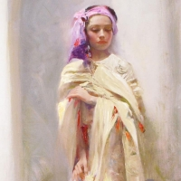 "Pino Signed ""Silk Shawl"" Artist Embellished Limited Edition 24x40 Giclee on Canvas at PristineAuction.com"