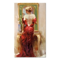 "Pino Signed ""Elegant Seduction"" Artist Embellished Limited Edition 24x40 Giclee on Canvas"