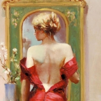 """Pino Signed """"Elegant Seduction"""" Artist Embellished Limited Edition 24x40 Giclee on Canvas at PristineAuction.com"""