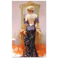 "Pino Signed ""Evening Elegance"" Artist Embellished Limited Edition 24x40 Giclee on Canvas"