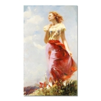 "Pino Signed ""Wind Swept"" Artist Embellished Limited Edition 24x40 Giclee on Canvas"