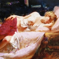 """Pino Signed """"Dreaming in Color"""" Artist Embellished Limited Edition 38x28 Giclee on Canvas at PristineAuction.com"""