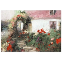 "Pino Signed ""Colorful Archway"" Artist Embellished Limited Edition 38x26 Giclee on Canvas at PristineAuction.com"