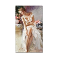"Pino Signed ""Angelica"" Artist Embellished Limited Edition 24x42 Giclee on Canvas at PristineAuction.com"