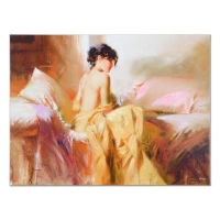 "Pino Signed ""Royal Beauty"" Artist Embellished Limited Edition 40x30 Giclee on Canvas"
