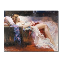 "Pino Signed ""Sweet Repose"" Artist Embellished Limited Edition 40x30 Giclee on Canvas"