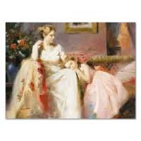 "Pino Signed ""Touch of Warmth"" Artist Embellished Limited Edition 40x30 Giclee on Canvas"