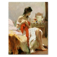 "Pino Signed ""Expectations"" Artist Embellished Limited Edition 30x40 Giclee on Canvas at PristineAuction.com"