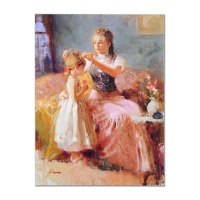 "Pino Signed ""Little Lady"" Artist Embellished Limited Edition 30x40 Giclee on Canvas at PristineAuction.com"