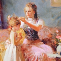 """Pino Signed """"Little Lady"""" Artist Embellished Limited Edition 30x40 Giclee on Canvas at PristineAuction.com"""