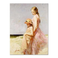 "Pino Signed ""Summer's Day"" Artist Embellished Limited Edition 30x40 on Canvas"