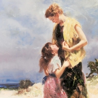 """Pino Signed """"Tenderness"""" Artist Embellished Limited Edition 30x40 Giclee on Canvas at PristineAuction.com"""