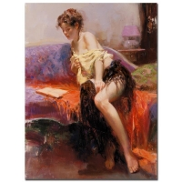 "Pino Signed ""After Midnight"" Artist Embellished Limited Edition 30x40 Giclee on Canvas"