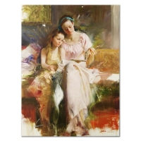 "Pino Signed ""Bedtime Stories"" Artist Embellished Limited Edition 30x40 Giclee on Canvas"