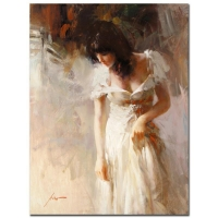 "Pino Signed ""White Rhapsody"" Artist Embellished Limited Edition 30x40 Giclee on Canvas at PristineAuction.com"