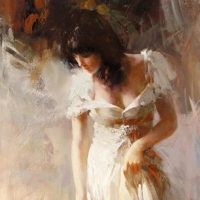 """Pino Signed """"White Rhapsody"""" Artist Embellished Limited Edition 30x40 Giclee on Canvas at PristineAuction.com"""